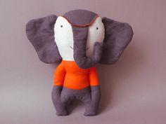 Mundo 01  Elephant  Plush Toy stuffed Doll Plushie by jipijipi