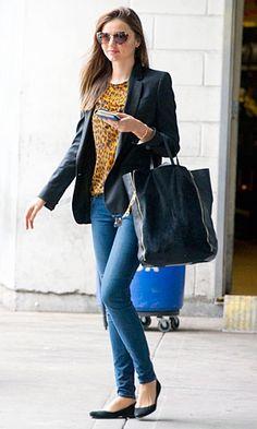 Miranda Kerr wearing a Stella McCartney jacket at JFK Airport   InStyle UK