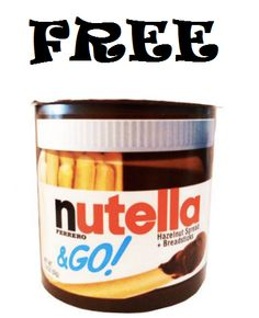FREE Package of 1.8oz Nutella & GO!