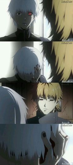 Kaneki and Hide - this was such a heartbreaking scene...