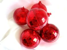 Retro fun! These vintage plastic Christmas holiday ornaments would make great conversation pieces for your next holiday party!