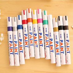 1/12 pcs Permanent Waterproof Car Tyre Tire Metal Paint Moulding Pen Marker UK