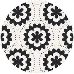 Jeni Baker, Geometric Bliss, Fractal Garland Black