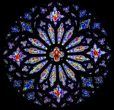 Stained Glass Scrap Afghan Pattern | Cathedral Rose Window Afghan Crochet Pattern