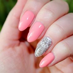 """""""Pink Stamping Nails by @_hola.paola_  Use Stamping Plate BP-48 , item ID #18791 . Use code PANK31 to get 10% off when check out.  #bornprettystore #bornprettynailart #nailart #stampingnailart"""" Photo taken by @bornprettynailart on Instagram, pinned via the InstaPin iOS App! http://www.instapinapp.com (04/08/2015)"""