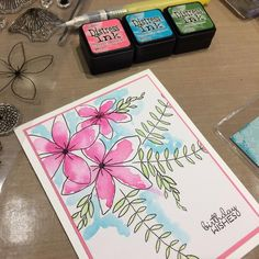 Card Crafts, Paper Crafts, Concord And 9th, Colour Combo, Copics, Distress Ink, Flower Cards, Dear Friend, Handmade Cards