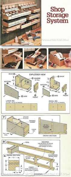 DIY Hardware Organizer - Workshop Solutions Projects, Tips and Tricks | WoodArchivist.com | Workshop Solutions | Pinterest