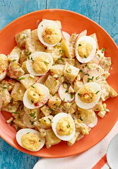 Deviled Egg Potato Salad ~ 5 ~ perfect when your looking for a quick and simple potato salad with tasty sauce.