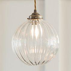 Fulbourn Glass Pendant Light in Antiqued Brass Lounge Lighting, Hall Lighting, Bedroom Lighting, Kitchen Lighting, Lighting Ideas, Brass Pendant Light, Ceiling Pendant, Pendant Lighting, Art Deco Pendant Light
