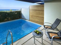 Imperial Room with Private Pool Chania Double Room, Double Beds, Beach Accommodation, Outdoor Pool, Outdoor Decor, Pool Towels, Private Pool, Luxury Interior, Sun Lounger