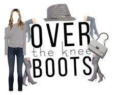 """OvertheKnee - Grey"" by micheladavite on Polyvore featuring Peony & Moss, rag & bone, Tom Ford, Nine West and Boots"