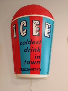 Light up ICEE sign
