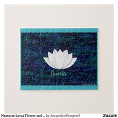 Namaste Lotus Flower and Blue Galaxy Puzzle #zazzle#scbwi #instagram #jacquelynjaiefourgerel #facebook #pinterest #twitter #tumblr  #pinterest #barnesandnoble#goodreads#amazon #amazonkindle#createspace #sagaftra #google #author#illustrator #writer#watercolor#painting#acrylic #abstractpainting #books #picturebooks #collage#drawing#library#bookstore #business