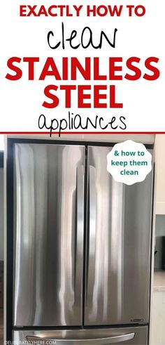 How to Clean Stainless Steel Appliances With Only 3 Supplies - Cleaning Hacks Clean Stainless Steel Grill, Cleaning Stainless Steel Fridge, Cleaning Stainless Steel Appliances, Stainless Steel Refrigerator, Stainless Steel Polish, Stainless Steel Doors, Kitchen Cleaning, Cleaning Hacks, Cleaning Solutions
