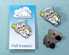 enamel pin cat pin enamel by FlatBonnie on Etsy