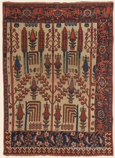BIJAR (Bidjar) SAMPLER, Northwest Persian Antique Rug - Claremont Rug Company