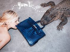 Tyler Shields arranged a risky-looking crocodile photo shoot for his Indulgence series!