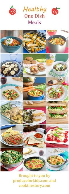 Here are 18 delicious and healthy one-dish meals to help you get food to the table with as little fuss as possible. This post is sponsored by Produce for Kids, your healthy family resource.