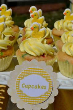 Baby Shower Cupcakes by 24 Carat Candy Buffet