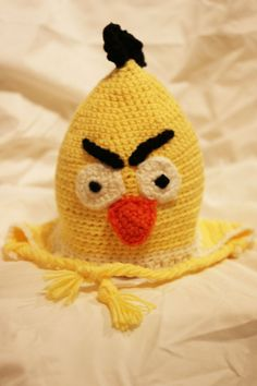 Yellow Angry Bird Hat