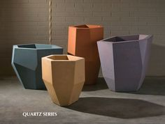 Indoor or outdoor use I'm loving these contemporary pots as opposed to the more traditional ones we've all seen before