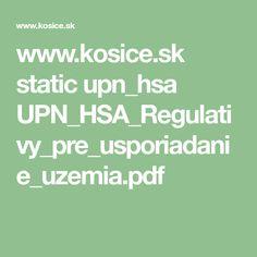 www.kosice.sk static upn_hsa UPN_HSA_Regulativy_pre_usporiadanie_uzemia.pdf Pdf, How To Plan, Math, Math Resources, Mathematics