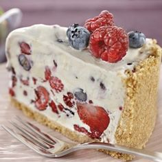 Berry Ice Cream Cheesecake  #DairyKitchen