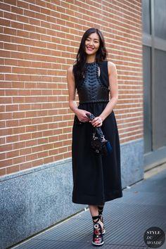 Liu Wen Street Style Street Fashion Streetsnaps by STYLEDUMONDE Street Style Fashion Photography