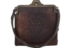 1920s tooled leather cowgirl purse
