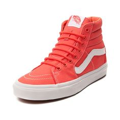 Shop for Vans Sk8 Hi Skate Shoe in Coral at Journeys Shoes. Shop today for the hottest brands in mens shoes and womens shoes at Journeys.com.Step out in style with the new Sk8 Hi Skate Sneaker from Vans! The Sk8 Hi Sneaker sports a hi top design with sturdy canvas uppers, padded collar for superior comfort, classic side stripe, and vulcanized sole with signature waffle tread. Only available at Journeys and SHI by Journeys!