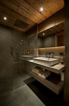 Concrete + wood // Bathroom