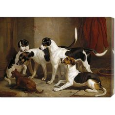 Thomas Woodward 'The Puckeridge Foxhounds' Stretched Canvas Art