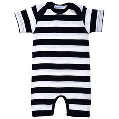 Under the Nile Organic Cotton Red and White Rugby Stripe Baby Unisex Sleepwear Side Snap Footie