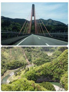 鮎の瀬大橋  熊本県上益城郡山都町