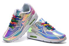 Nike Wmns Air Max 90 Premium AS iD Iridescent Multi Color Womens Trainers Shoes Lowest Price