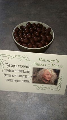 Princess Bride Party... Valarie'd Magic Pills