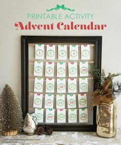 Free printable activity advent calendar