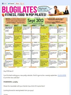 Torn for Septembers workouts... Another Blogilates month or re-do month 1 of Body Revolution.......