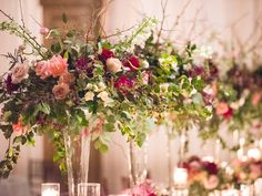 Pink Ombre Centerpiece Is Made Of White Peony Light Pink