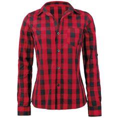 Chemise Femme à carreaux signée Forplay avec poche poitrine et longueur des manches ajustable.