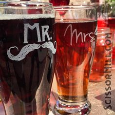 19 ounce etshed Mr & Mrs Beer Glasses See more here: https://www.etsy.com/listing/123972443/mr-and-mrs-glasses-mr-and-mrs-mugs?ga_order=most_relevant&ga_search_type=all&ga_view_type=gallery&ga_search_query=mr%20and%20mrs%20mugs&ref=sr_gallery_31