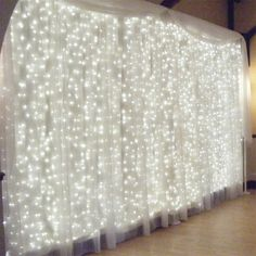 SUPli 300 LED Window Curtain String Light for Wedding Party Home Garden Bedroom Outdoor Indoor Wall Decorations - WHITE EU AC220-240