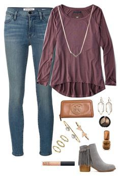 """""""I want to be your favorite hello and your hardest goodbye"""" by lmr14 ❤️ liked on Polyvore featuring Frame Denim, American Eagle Outfitters, Michael Kors, Kendra Scott, Accessorize, Tory Burch, Sam Edelman, NARS Cosmetics, women's clothing and women's fashion"""