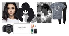 """Sibling tag - Addie"" by celeb-families ❤ liked on Polyvore featuring NIKE, adidas, McQ by Alexander McQueen, Hollister Co., Eos and Apple"