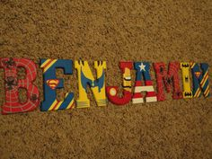 Wooden Letters Super Heroes by WallApproved on Etsy, $45.00