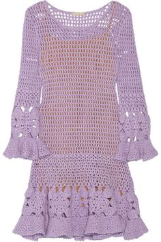 Michael Kors Crocheted Cashmere-Blend Mini Dress. Shop it and 29 other dresses that are Coachella-ready.