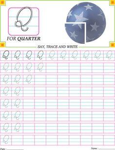 Cursive Capital Letter Q Practice Worksheet