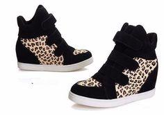 Women Wedge Height Increasing Sneakers Shoes