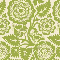 HDJD12 · Blockprint Blossom · Green | Joel Dewberry fabric