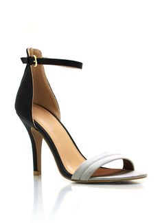 OMG these are fantasic! i want them in all blank and nude! Single-Sole Ankle Strap Heels $21.40